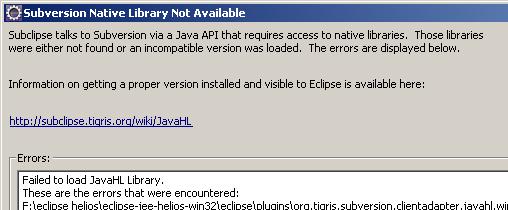 Java HL Lib Error
